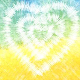 Галстук красочный белый акварельный фон.
