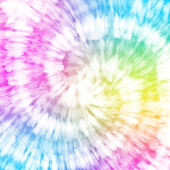 Tie dye colorful white watercolor background.