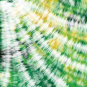 넥타이 염료 녹색 노란색 화려한 흰색 수채화 배경.