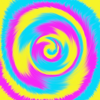 Tie dye rainbow colorful spiral