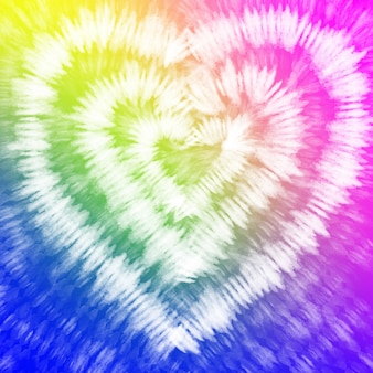 Tie dye  rainbow colorful white watercolor background.