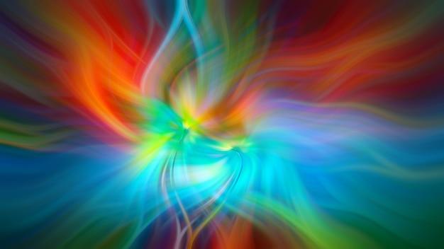 扎染彩虹风格抽象插图。