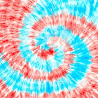 Галстук краситель завихрения красный синий фон.