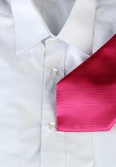 Tie on  shirt close-up