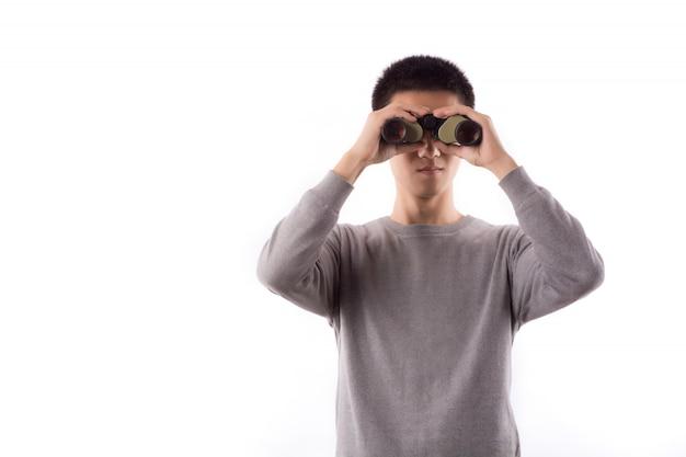 Tecnologia di visione ottica vista cravatta