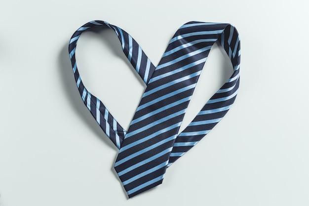 Tie over white