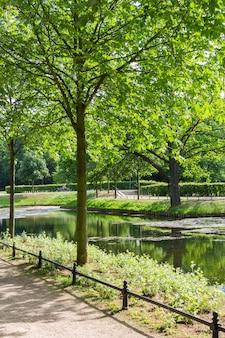 The tiergarten, walk through the green beautiful park in central berlin