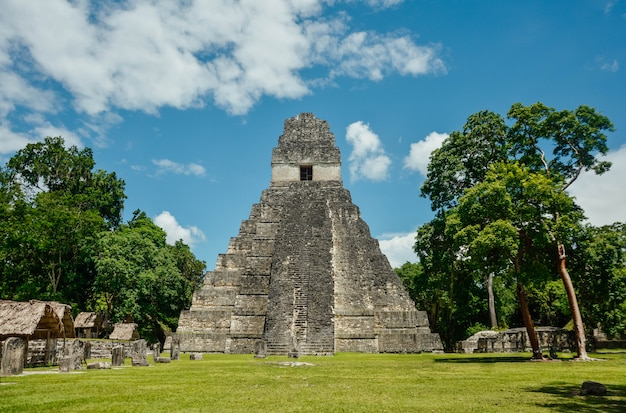Tikal archaeological national park.