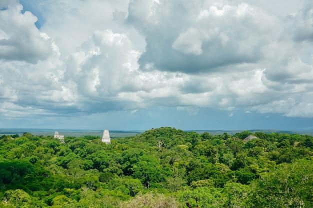 Tikal archaeological national park.