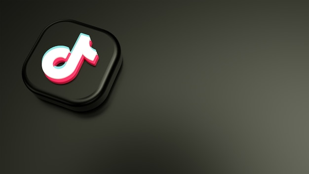 Tiktokの最小限のロゴとtiktokのきれいな背景