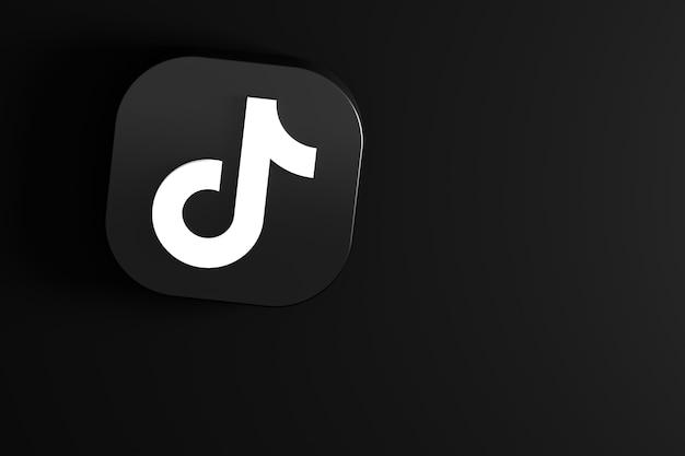 Tiktok minimal logo close up