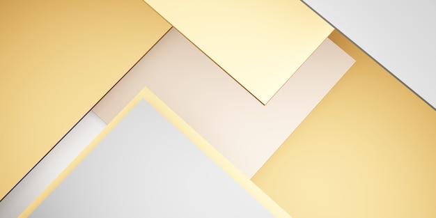 抽象的な正方形の3dイラストのタイルの背景パステルジオメトリ階層