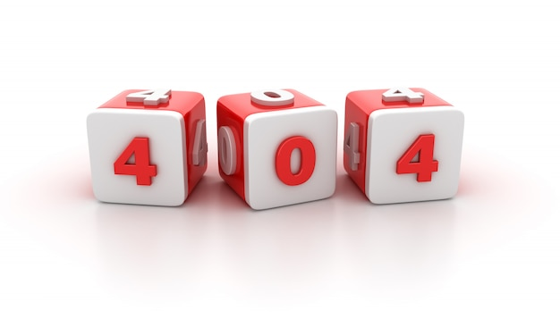 Tile blocks with 404 numbers