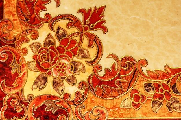 타일 바닥 디자인 아름다운 돌 무늬 배경입니다.
