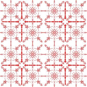 タイルパターン赤い縞模様の白い背景