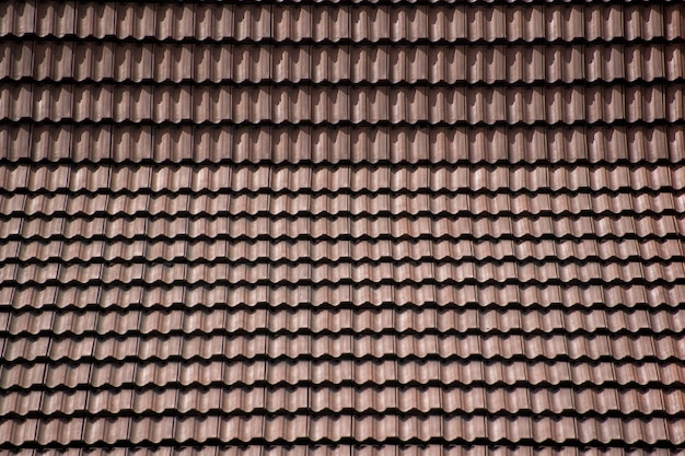Tile roof made of clay tiles. backgrounds and textures.
