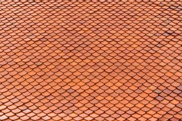 Плитка крыши старого тайского храма текстура фона поверхности естественного цвета