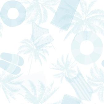 Tileable 원활한 해변 여름 패턴