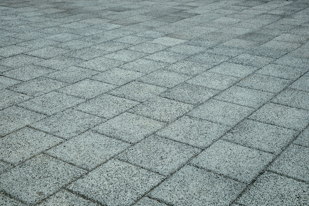 Tiled street paving in perspective