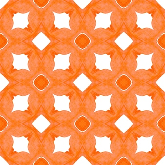 Tiled watercolor background orange immaculate boho chic summer design hand painted tiled watercolor ...