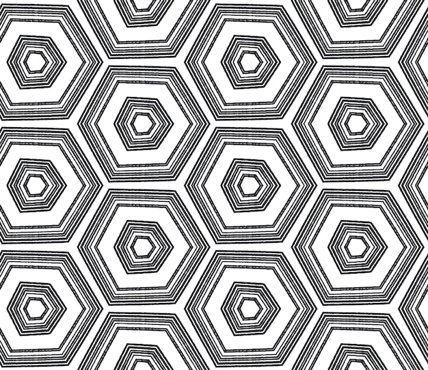Плиточный акварельный образец. черный симметричный фон калейдоскопа. готовый текстиль с принтом, ткань для купальников, обои, упаковка. ручная роспись плиткой акварель бесшовные.