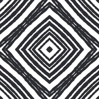 タイル張りの水彩パターン黒対称万華鏡手描きタイル張りの水彩シームレスパターンテキスタイルレディドラマチックプリント水着生地ラッピング