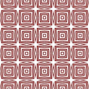 Плиточный акварельный образец. бордовый симметричный фон калейдоскопа. ручная роспись плиткой акварель бесшовные. текстиль готов с потрясающим принтом, ткань для купальников, обои, упаковка.