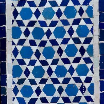 Tiles decorating at lezama synagogue, mellah, medina, marrakesh, morocco