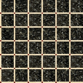 Tiles made of natural polished stone. mosaic made of marble and granite. seamless texture