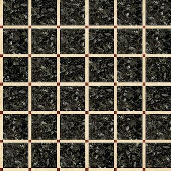 Плитка из натурального полированного камня. мозаика из мрамора и гранита. бесшовная структура