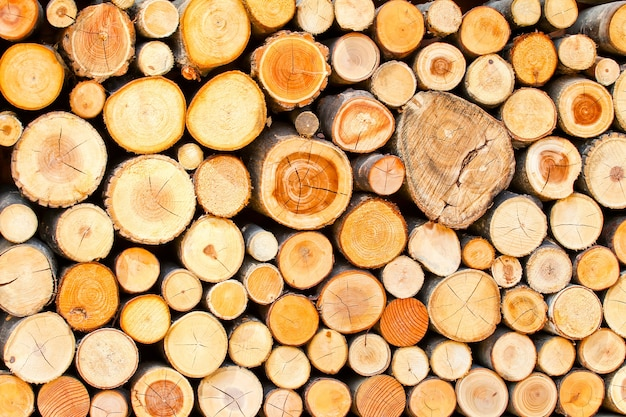 Timber was placed in an orderly manner is background or pattern from wood