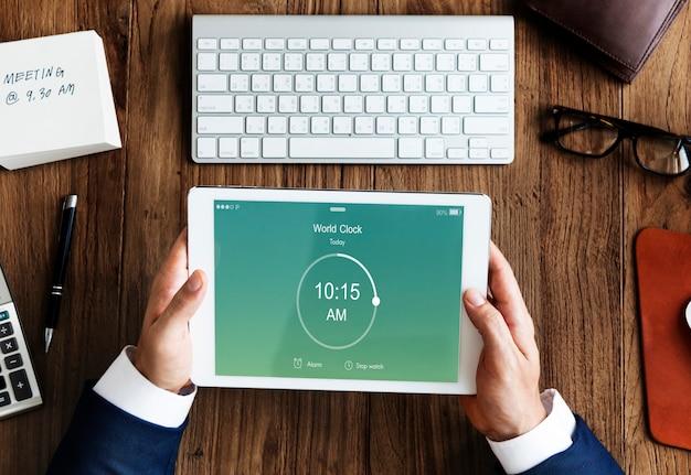 Time alarm stopwatch clock concept