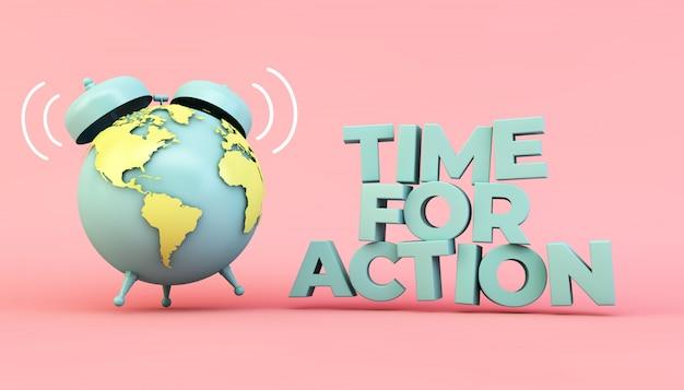 Время для действия эко иллюстрации