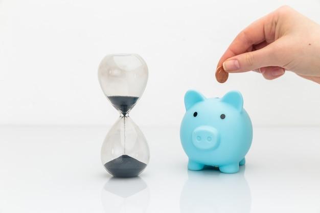 시간은 돈 개념입니다. 시간 절약 및 투자