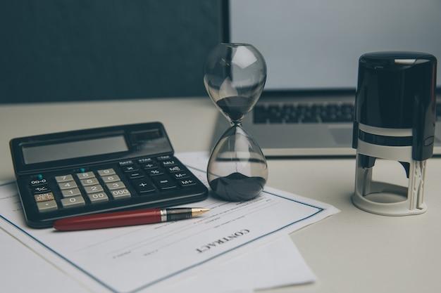 비즈니스 분야에서 시간 관리 개념입니다.