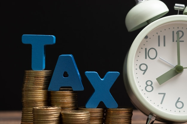 Time to pay tax concept