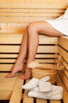 Time to relaxation in sauna