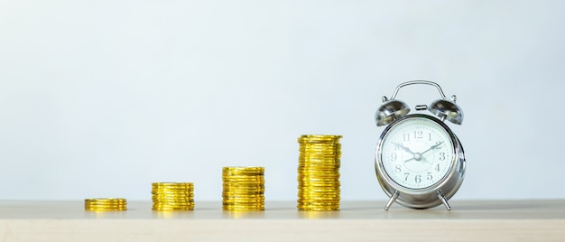 Time, savings, time is money. time to growth up business