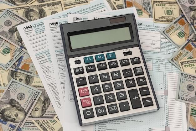 Time for taxes money financial concept