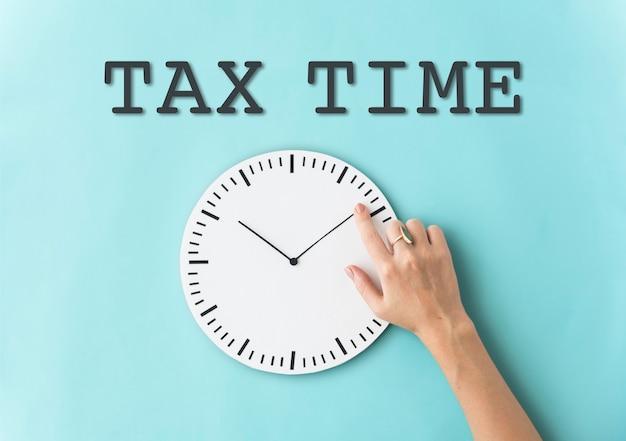 Tempo per il concetto di promemoria delle tasse