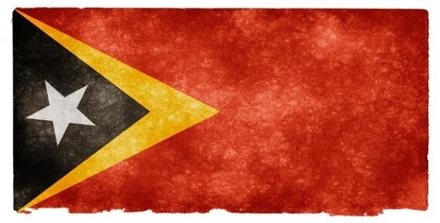 Timor leste grunge flag