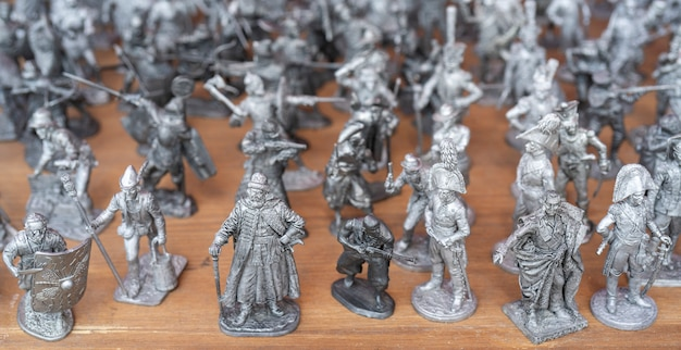 Tin soldiers. figures of soldiers and historical figures.
