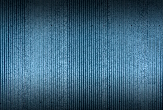 Tin texture and pattern background. industrial and building fence or metal sheets of blue tin