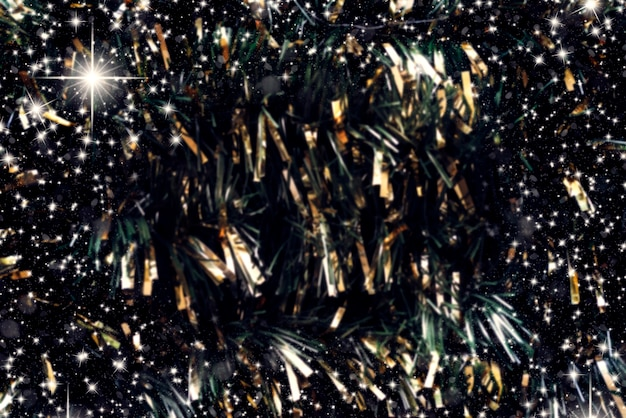 Tinsel with golden details for new year background