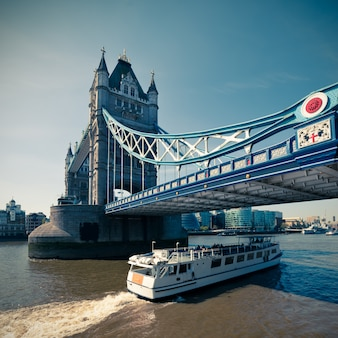 Tinted picture of tower bridge in london