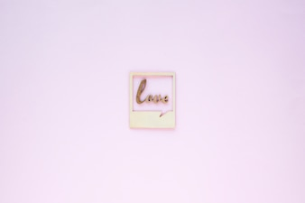 Tiny love writing in frame