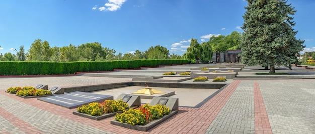 チラスポリ、モルドバ06.09.2021。晴れた夏の日に、チラスポリ、トランスニストリア、モルドバの栄光の記念碑