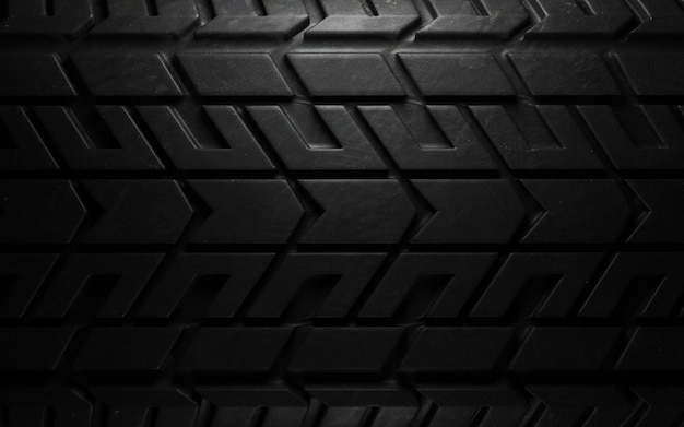 Tire pattern closeup. 3d render