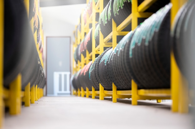 Tire storage warehouse
