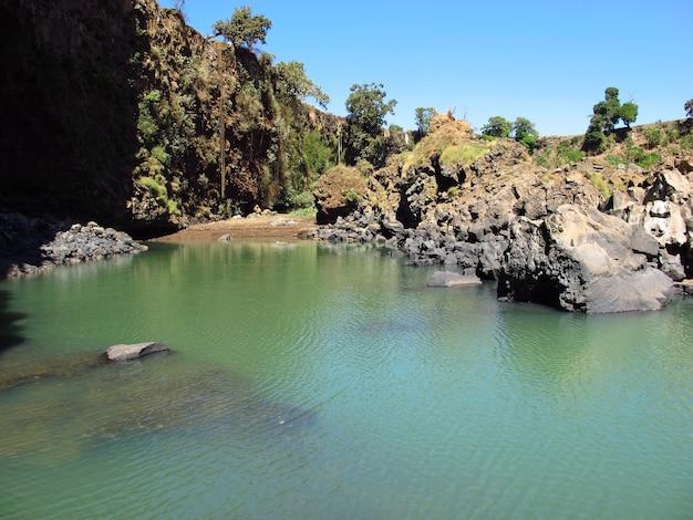 Tisabbay-エチオピアの青いナイル川の滝